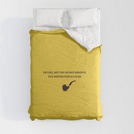 Sherlock Holmes Quote III Comforters
