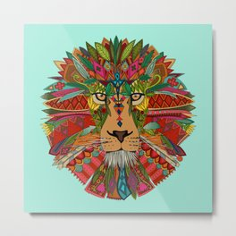 lion mint Metal Print