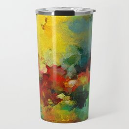Colorful Landscape Abstract Art Print Travel Mug