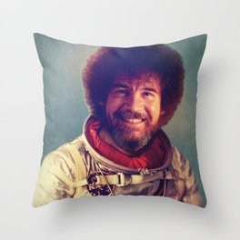 Happy Little Astronaut Throw Pillow