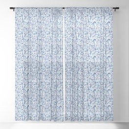 Blueberry leaves Sheer Curtain