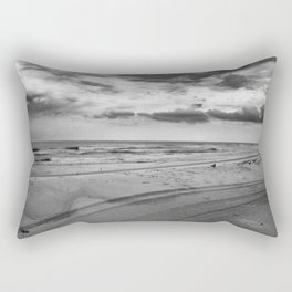 Driving on Assateague Island (Black and White) Rectangular Pillow