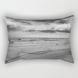 Driving on Assateague Island (Black and White) Rectangular Pillow