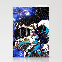 astronaut Stationery Cards featuring Astronaut  by Saundra Myles