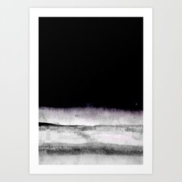 black and gray abstract landscape painting Art Print