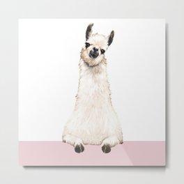 hi! Llama Metal Print
