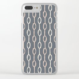 Girly Dot Stripe 1 Clear iPhone Case