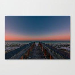 Catching sunrises at the beach Canvas Print