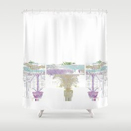 ///if money grew on trees/// Shower Curtain