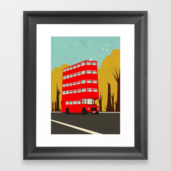 Are we there yet? Framed Art Print