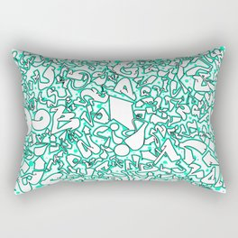 Alphabet Aerobics Rectangular Pillow