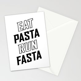 Eat Pasta Run Fasta v2 Stationery Cards