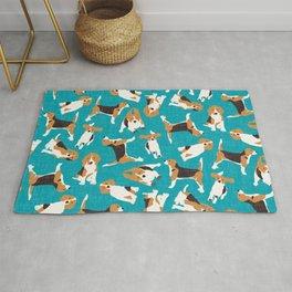 beagle scatter blue Rug