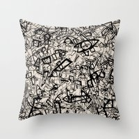 newspaper Throw Pillows featuring - newspaper - by Magdalla Del Fresto