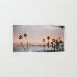 palm trees sunset vi / san clemente, california Hand & Bath Towel
