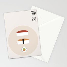 Sushis plate Stationery Cards