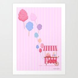 Cotton Candy Shop Art Print