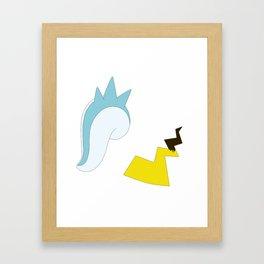 Cute Monster Tails Framed Art Print