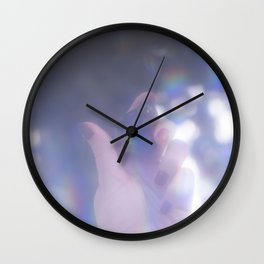 Stone in hand Wall Clock