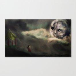Li Po Affair with the Moon Illustration Canvas Print