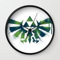 zelda Wall Clocks featuring Zelda by Bradley Bailey