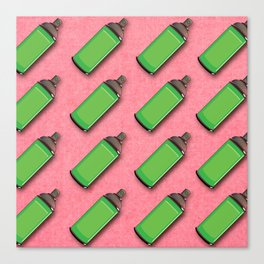 Spraycan pattern Canvas Print