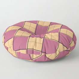 Argyle Out of Line Warm Floor Pillow