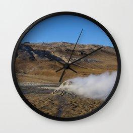 Namafjall geothermal Iceland Wall Clock
