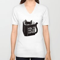 train V-neck T-shirts featuring How To Train Your Human by Tobe Fonseca