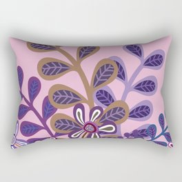Plum Foliage Rectangular Pillow