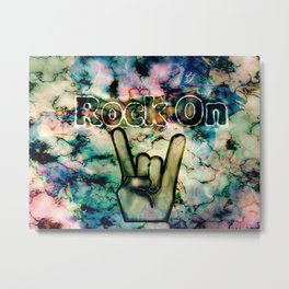 Rock On Metal Print