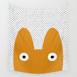 Orange Monster Wall Tapestry