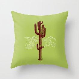 cactus y nieve Throw Pillow