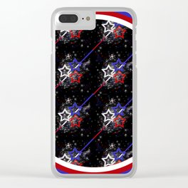 Stars and Stripes Diameter Clear iPhone Case