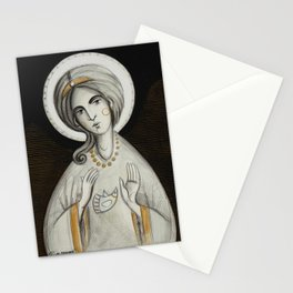 modern folk icon - ANGELUS DOMINI Stationery Cards