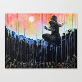 Gaia cries at dawn for the Lost Canvas Print
