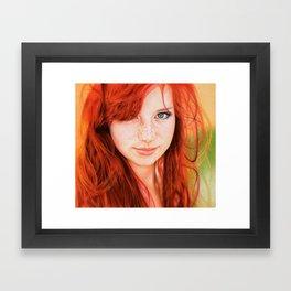 Redhead Girl Framed Art Print