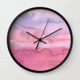 Melting Sunrise #1, Rose Magnifique Wall Clock
