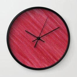 Red Diagonal Watercolor Painting Wall Clock