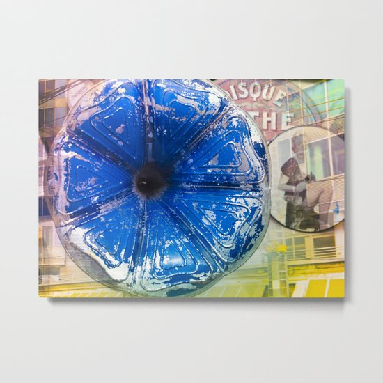 Musical Blue Mood, Flowers Photography Metal Print