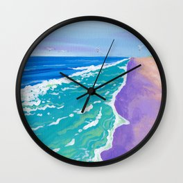 the view from up here on jennette's pier Wall Clock