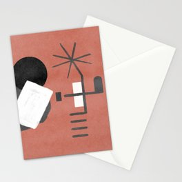 """A simple """"Miró"""" on a red background - minimal composition Stationery Cards"""