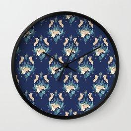 Cute Corgi Puppy Wall Clock