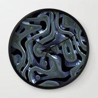 metallic Wall Clocks featuring Metallic by Fine2art