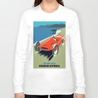 grand theft auto Long Sleeve T-shirts featuring Retro style auto Grand Prix Rivièra by aapshop