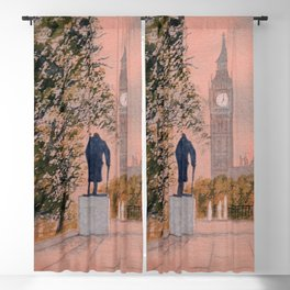 Churchill And Big Ben Blackout Curtain