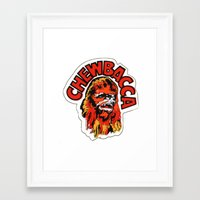 chewbacca Framed Art Prints featuring Chewbacca by Popp Art