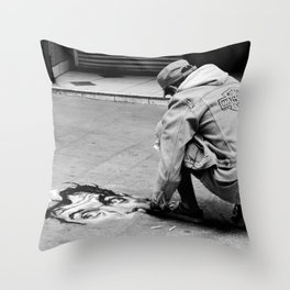 Street Art in B&W Throw Pillow