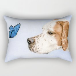 The Dog And The Butterfly Rectangular Pillow