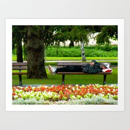 Just Chillin Art Print